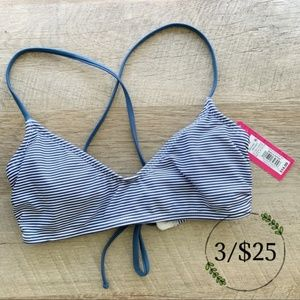 Xhilaration NEW Striped Lace Up Bikini Top
